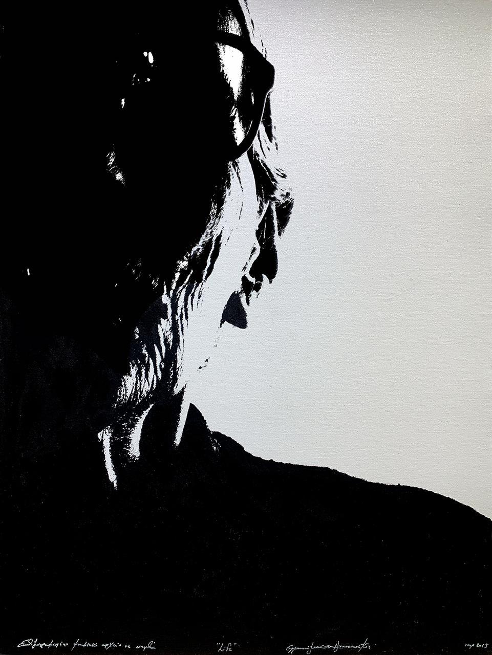 Life, 2015, επιζωγραφισμένο ψηφιακό έργο (ακρυλικό σε καμβά), 79x58.5 εκ.
