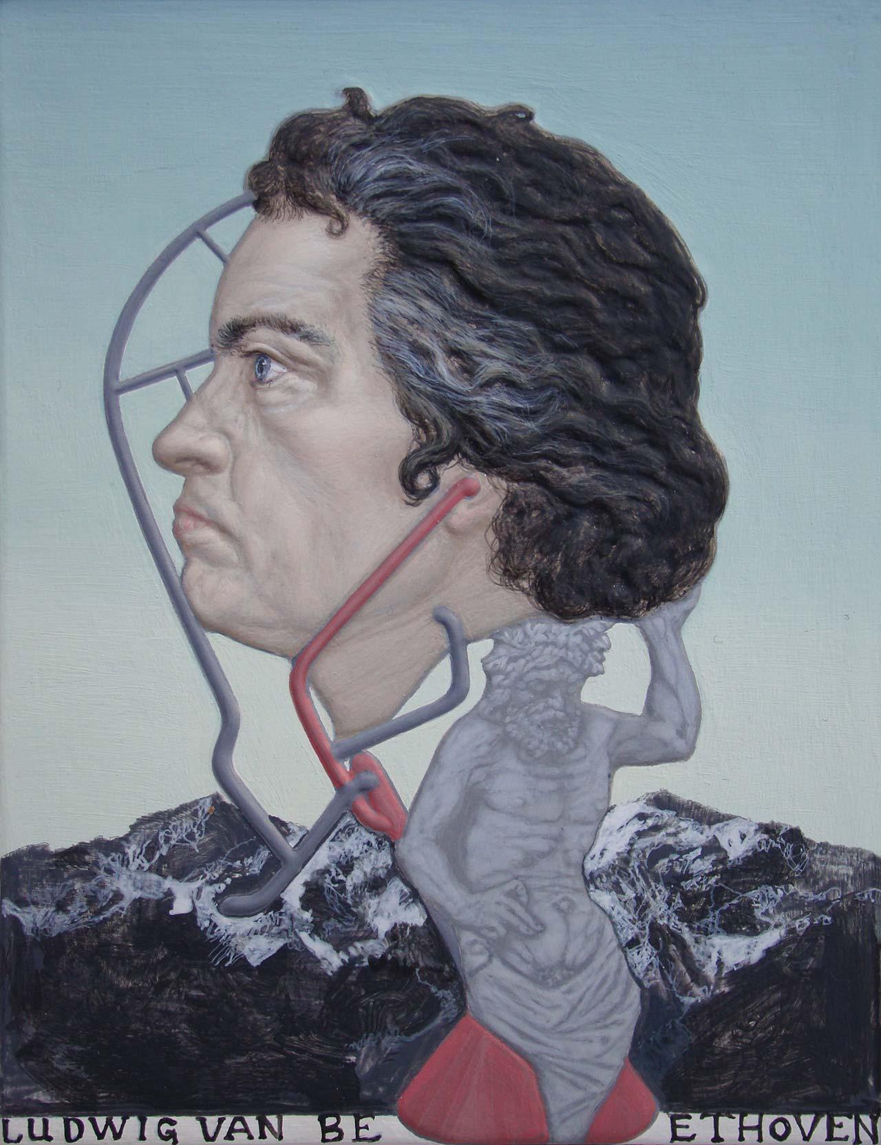 Beethoven, 2013, ακρυλικό σε καμβά, 12,5x9,5 εκ.