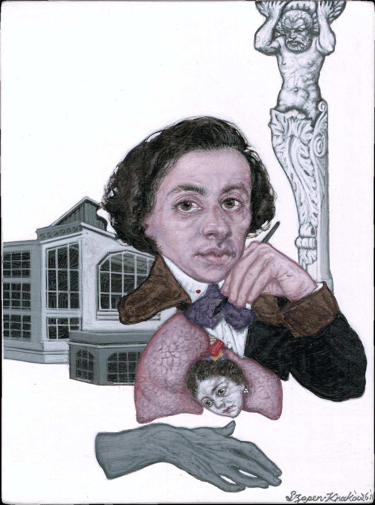 Fryderyk Szopen, 2011, τέμπερα σε χαρτόνι, 12x9,5 εκ.