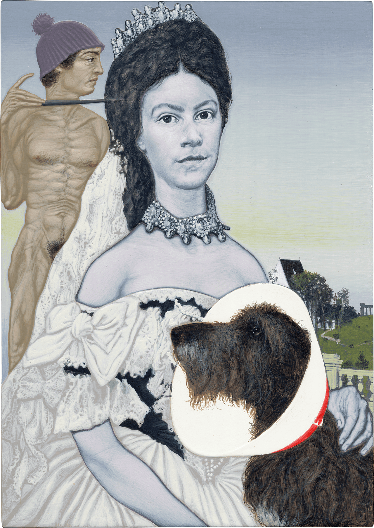 Elizabethan Collar, 2014, ακρυλικό σε ξύλο, 21x15 εκ.