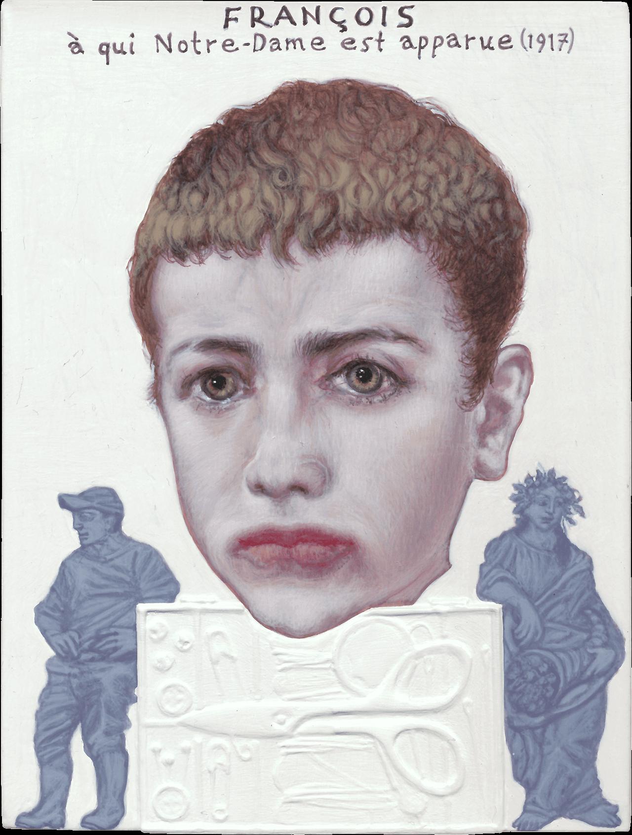 Francois, 2013, ακρυλικό σε χαρτόνι, 12,5x9,5 εκ.