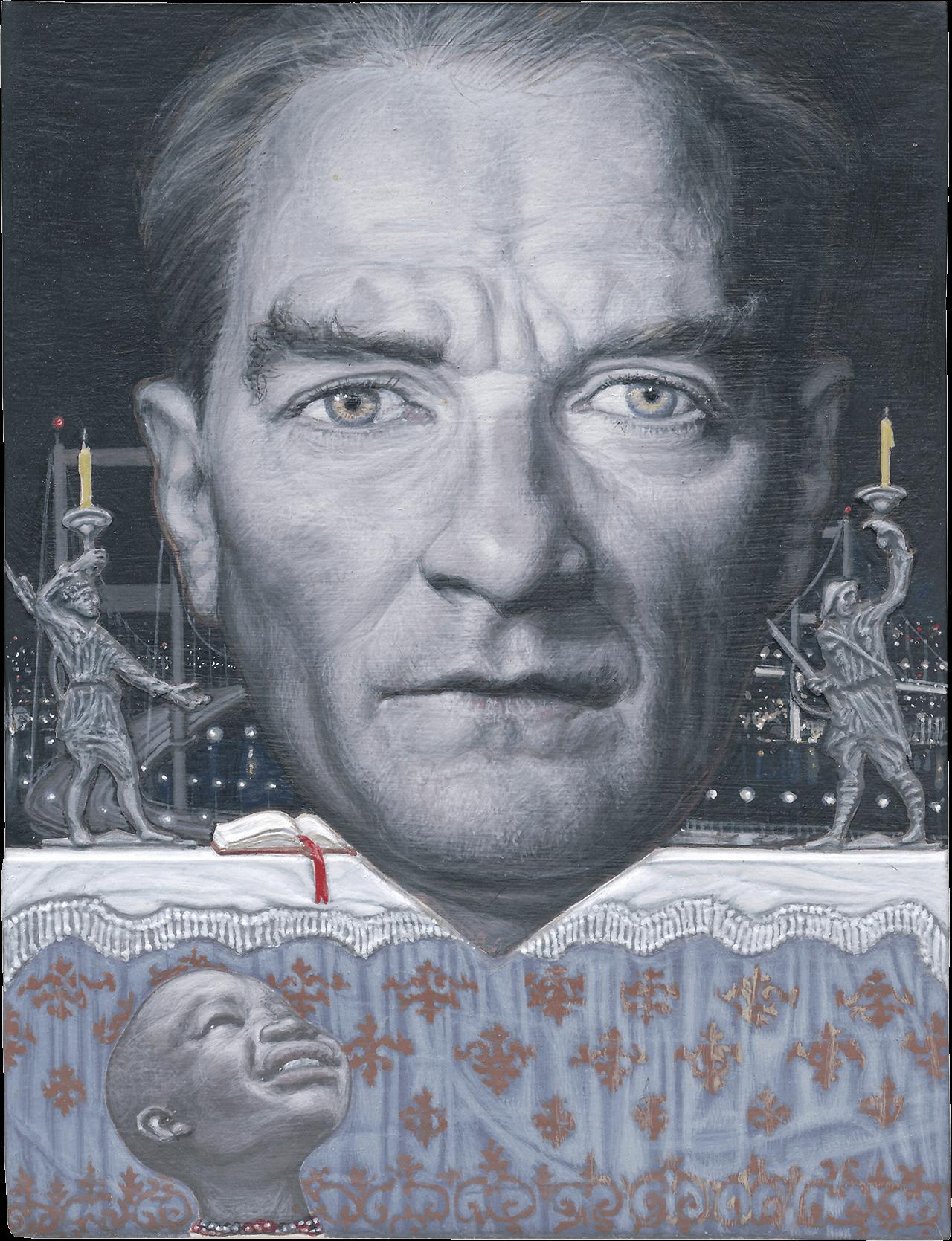 Black Kemal, 2013, ακρυλικό σε χαρτόνι, 12,5x9,5 εκ.