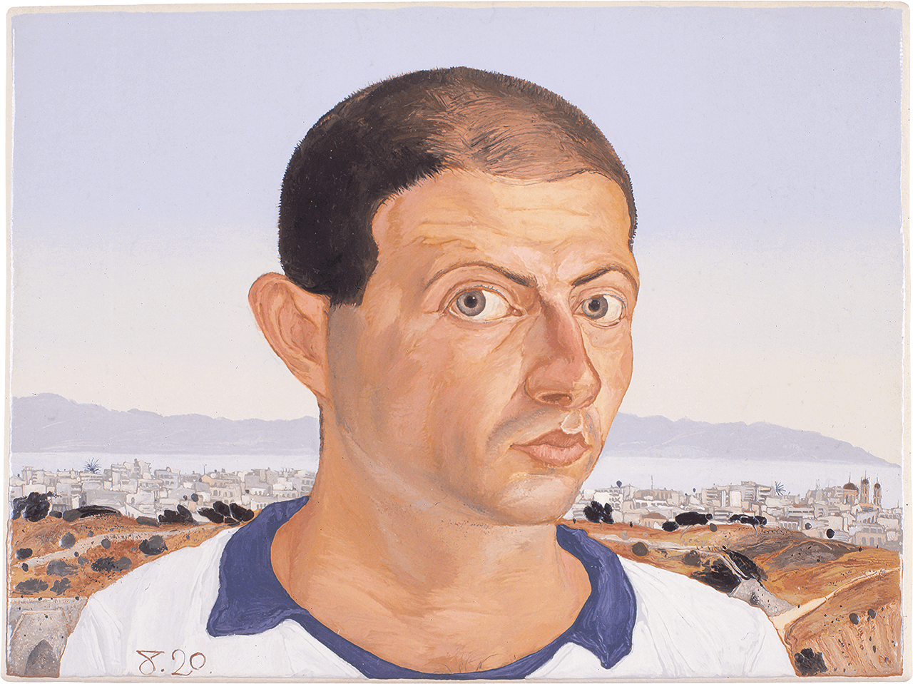 Πορτραίτο στο Ηράκλειο, 2000, λάδι σε καμβά, 18x24 εκ.
