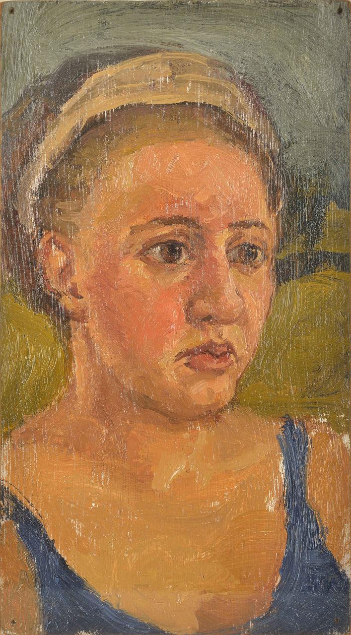 Πορτραίτο, 1997, λάδι σε κόντρα πλακέ, 17,5x9,5 εκ.