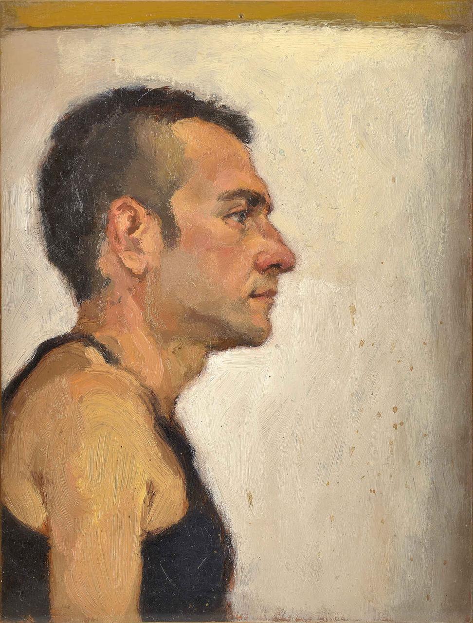 Νέος, 1996, ακρυλικό σε χαρτόνι, 18x13,5 εκ.