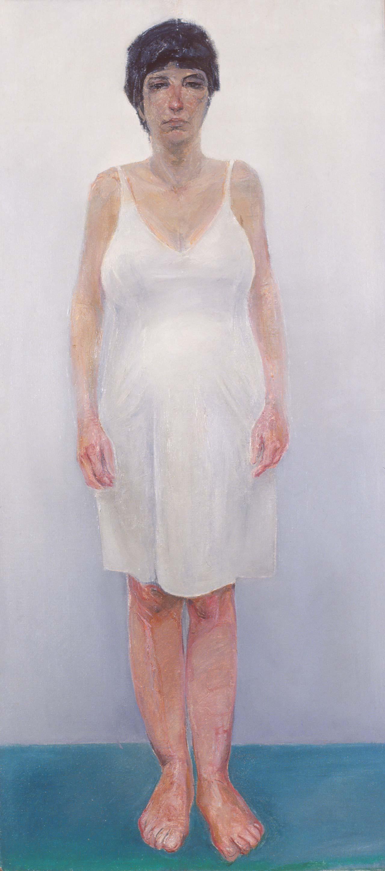 Η Έγκυος,1981, λάδι σε καμβά, 110x50 εκ.