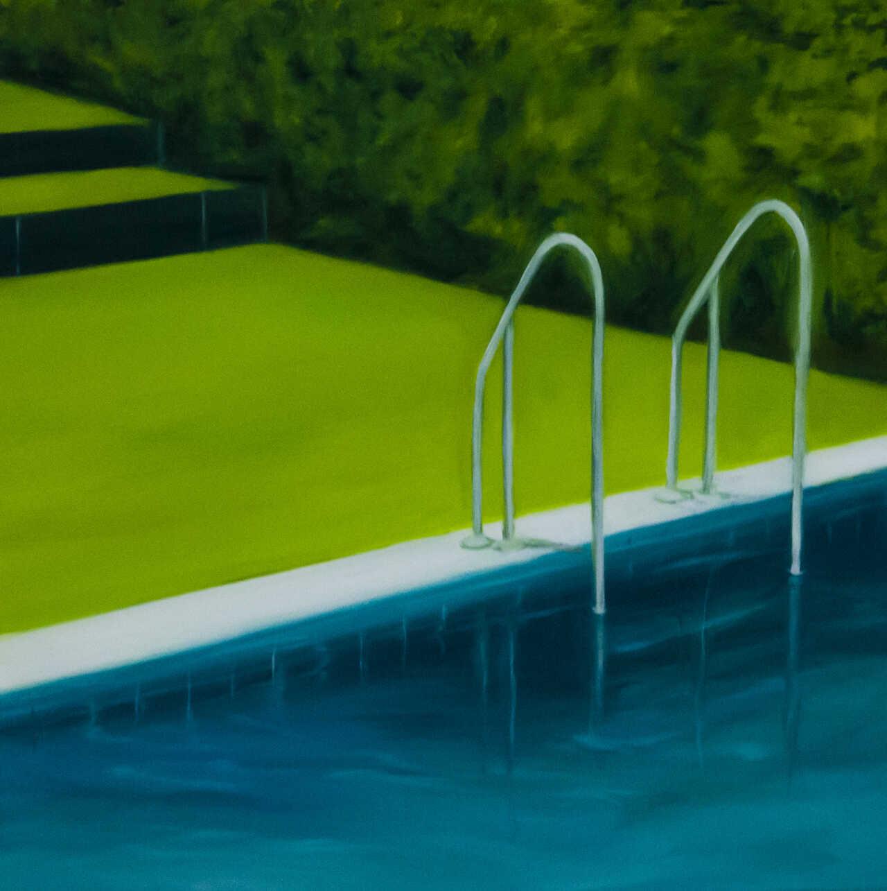 Rest in Pool, 2020, λάδι σε καμβά, 50x50 εκ.
