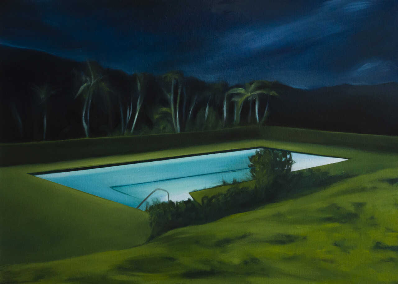 Rest in Pool, 2020, λάδι σε καμβά, 50x70 εκ.