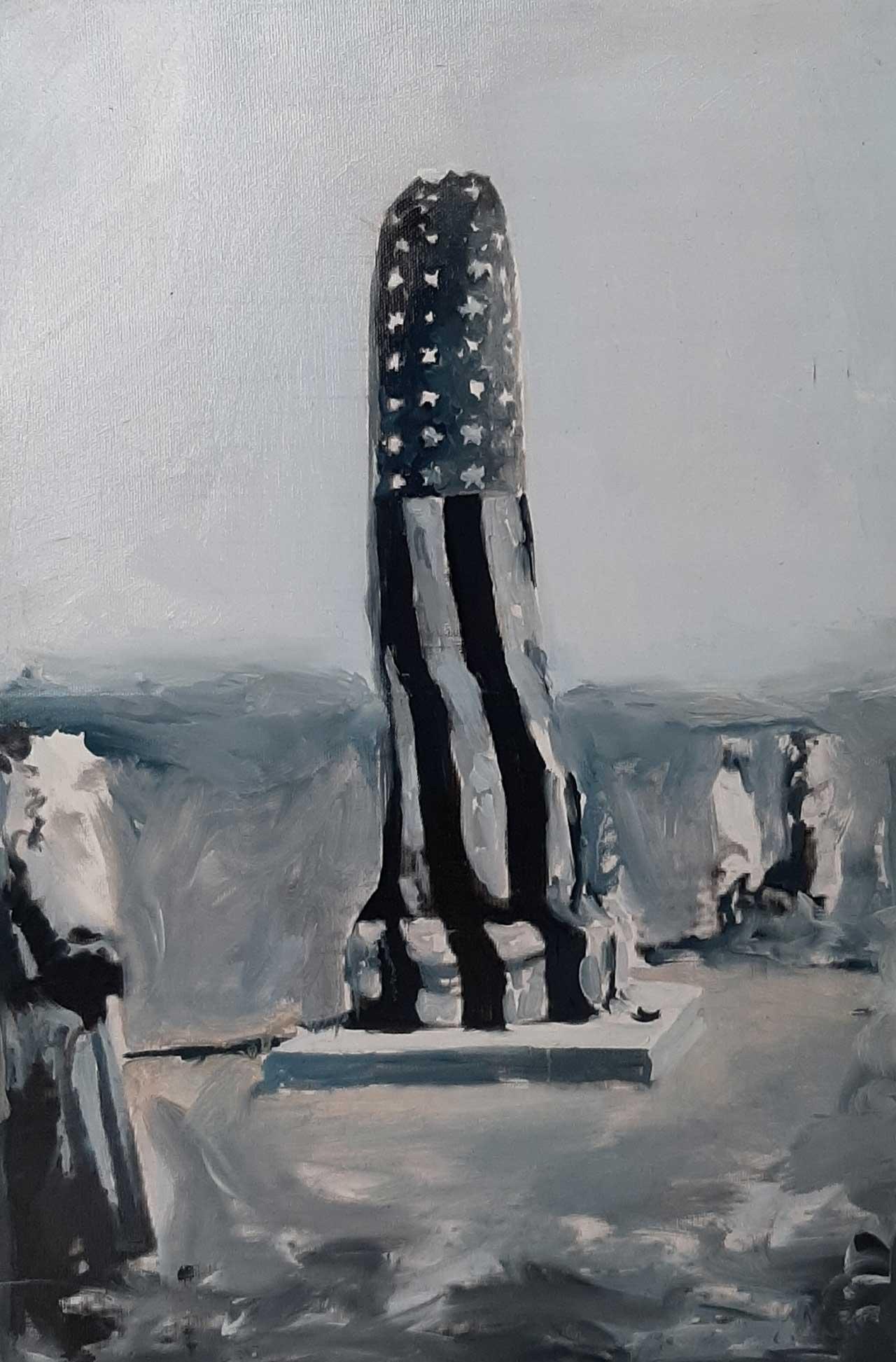 Unveiling, 2014, λάδι σε καμβά, 53Χ37 εκ.