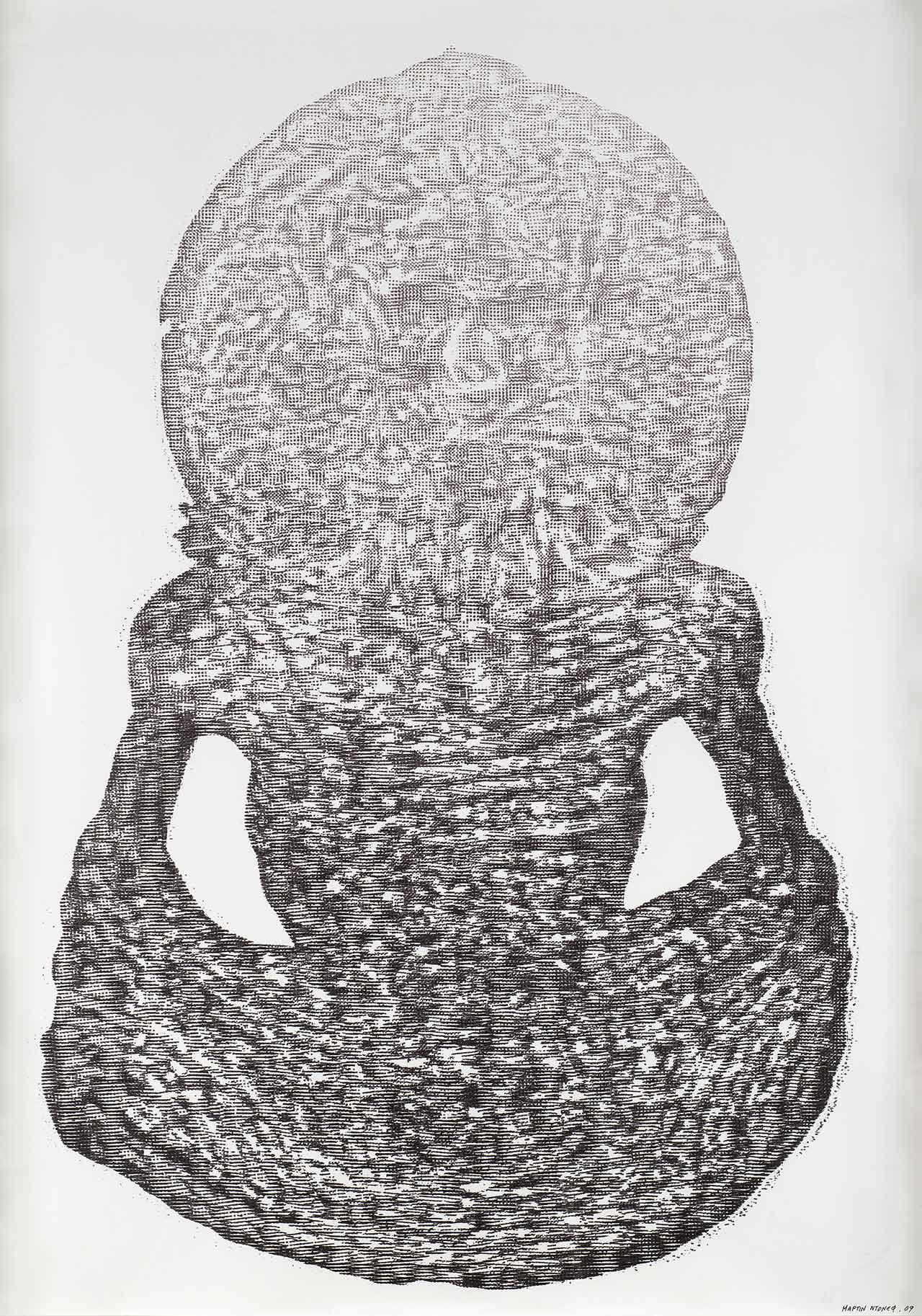 Άτιτλο (Samadhi in the City), 2009, μαρκαδόροι σε χαρτί, 100x70 εκ.