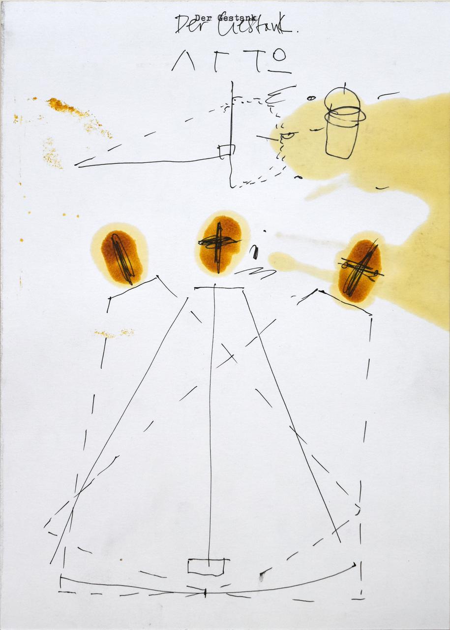 VasFragili 7, 2018, wax, ink, pencil, type writer, on paper, 29x21 εκ