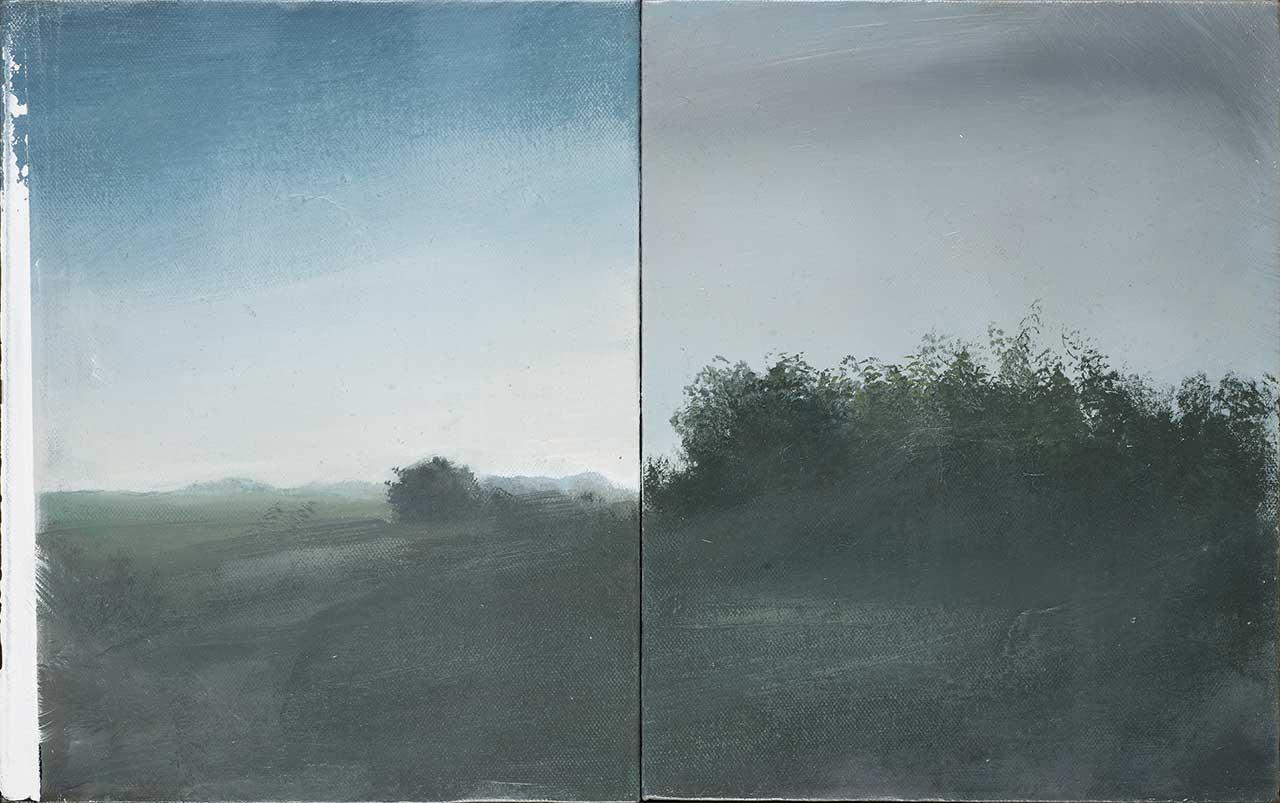 Lust, 2011, δίπτυχο, λάδι σε καμβά, 30x24 εκ. το καθένα