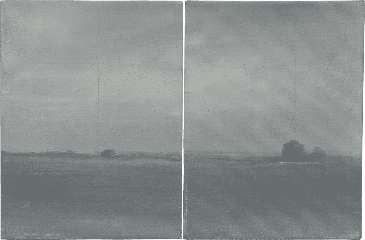 Campo Santo, 2010, δίπτυχο, λάδι σε καμβά, 24x36 εκ. το καθένα