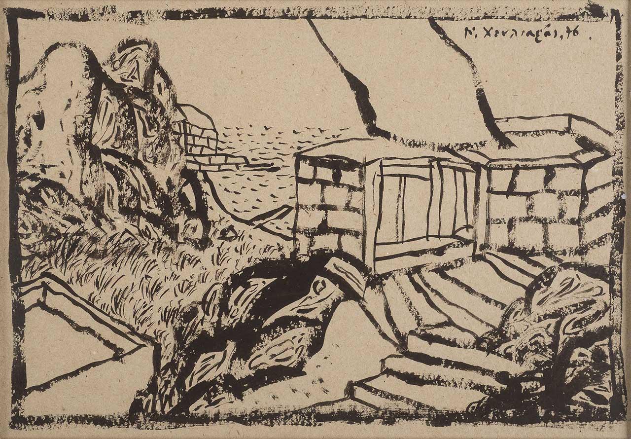 Τοπίο, 1976, σχέδιο, 20,5x29,5 εκ.