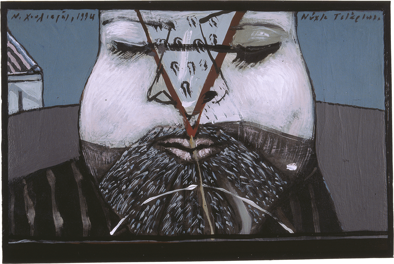 Νύχτα Τετάρτης, 1994, ακρυλικό σε χαρτόνι, 25,5x38,5 εκ.