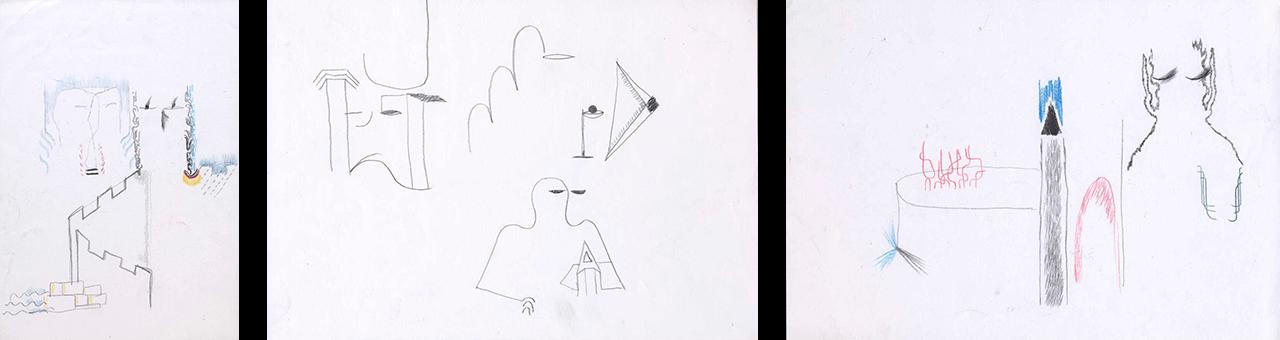 Προσχέδια Α4, 2018, μολύβι και ξυλομπογιές