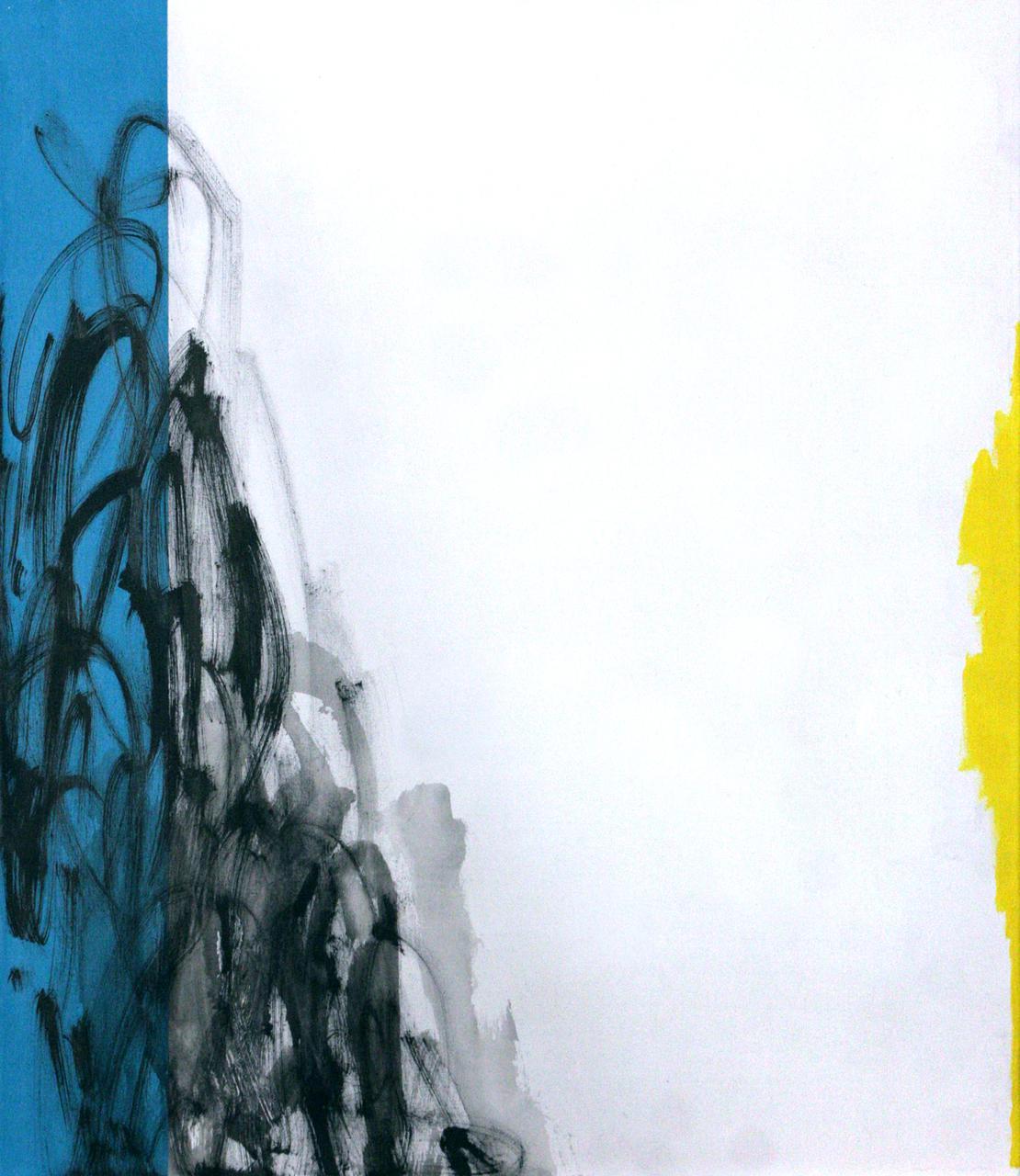 Άτιτλο (Symphonies series I), 2013, λάδι και ακρυλικό σε καμβά, 70Χ60 εκ.