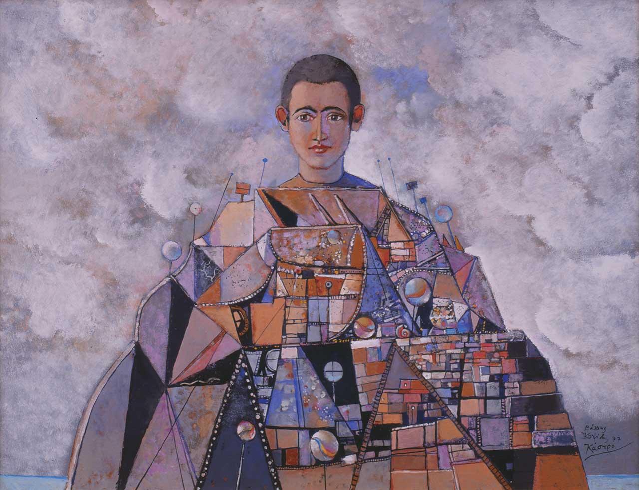 Κάστρο, 1977 (επιζωγραφισμένο το 1992), λάδι σε ξύλο, 45x61 εκ.