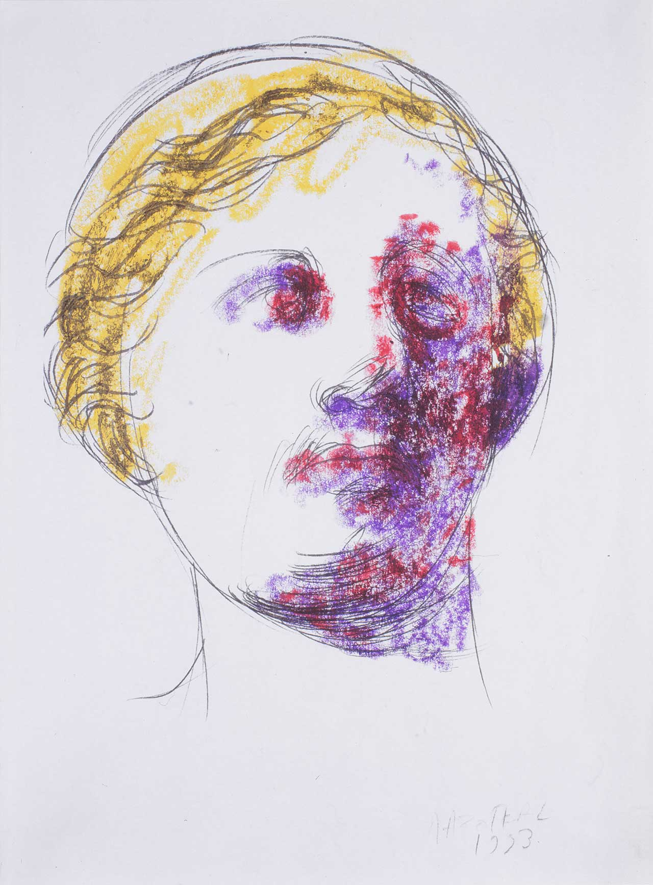 Κεφαλή, 1993, σχέδιο, 29x21 εκ.