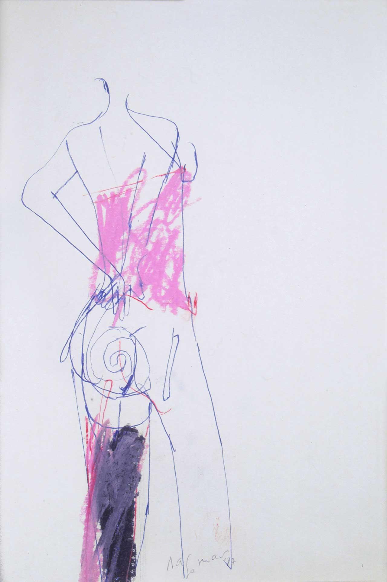 Γυναίκα, 1987, σχέδιο, 34x24 εκ.