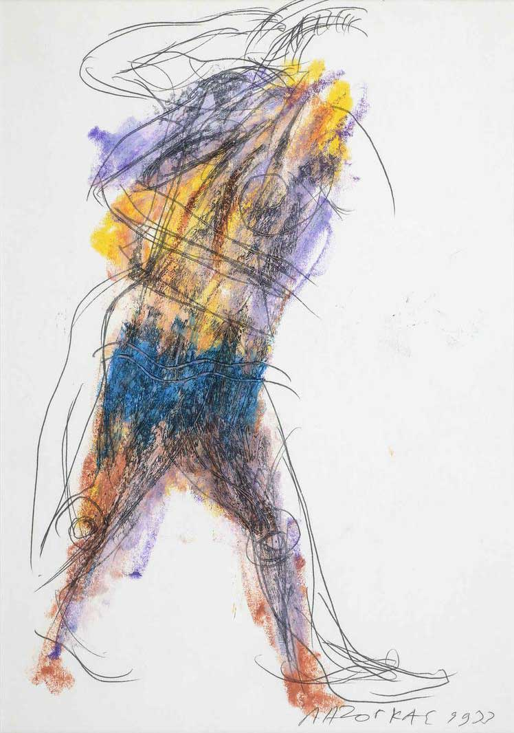 Πολεμιστής, 1993, σχέδιο, 29x21 εκ.