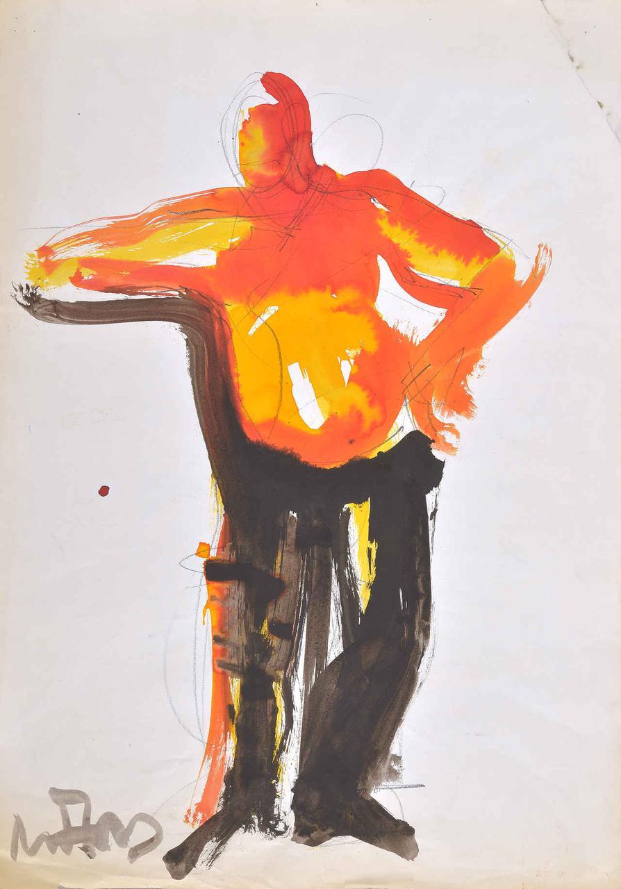 Όρθιος άνδρας, 1993, ακρυλικό σε χαρτί, 60x42 εκ.