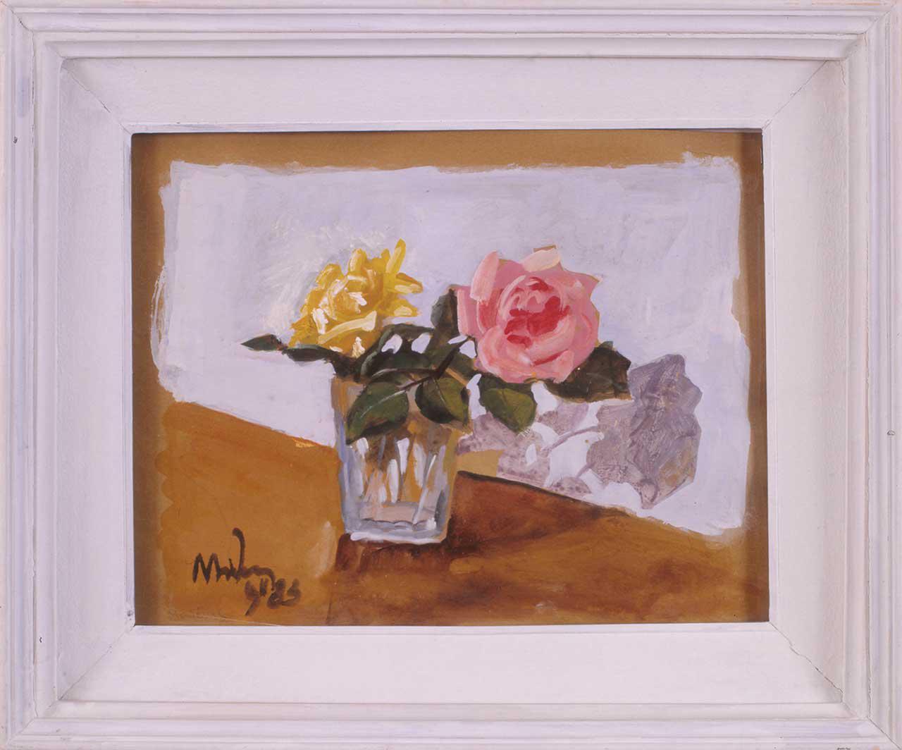 Τριαντάφυλλα, 1983, ακρυλικό σε χαρτί, 48x58 εκ.