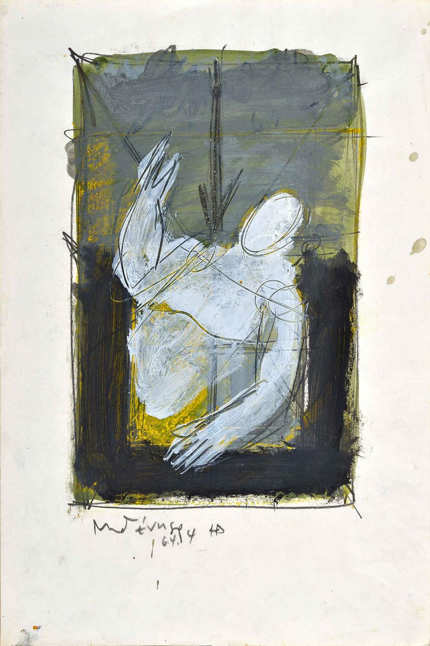 Φιγούρα (ο ζωγράφος), 16.4.94, ακρυλικό σε χαρτί, 47,5x32 εκ.