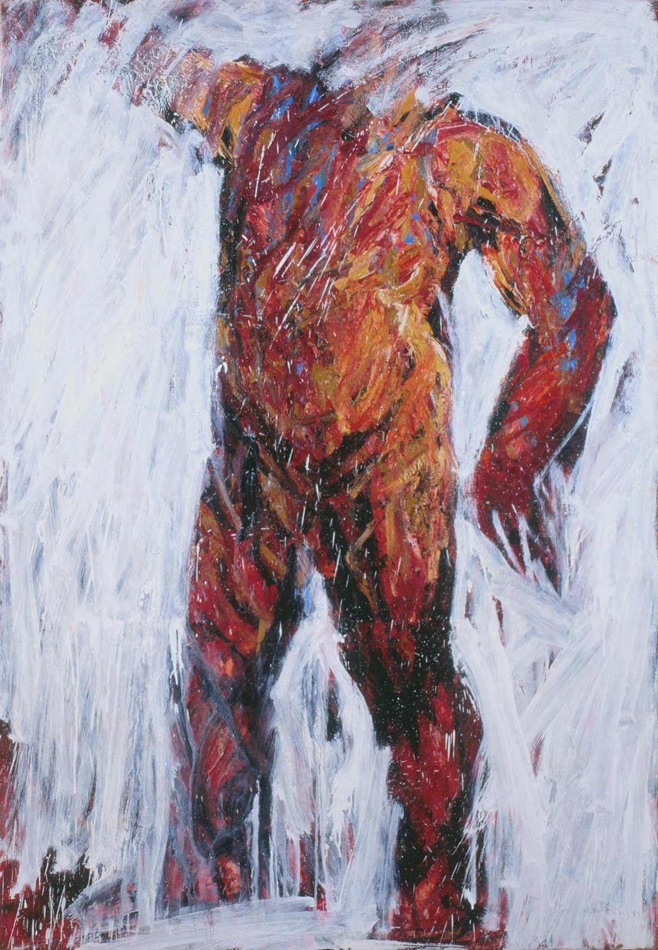 Γυμνός άνδρας, 1992, λάδι σε καμβά, 200x137 εκ.