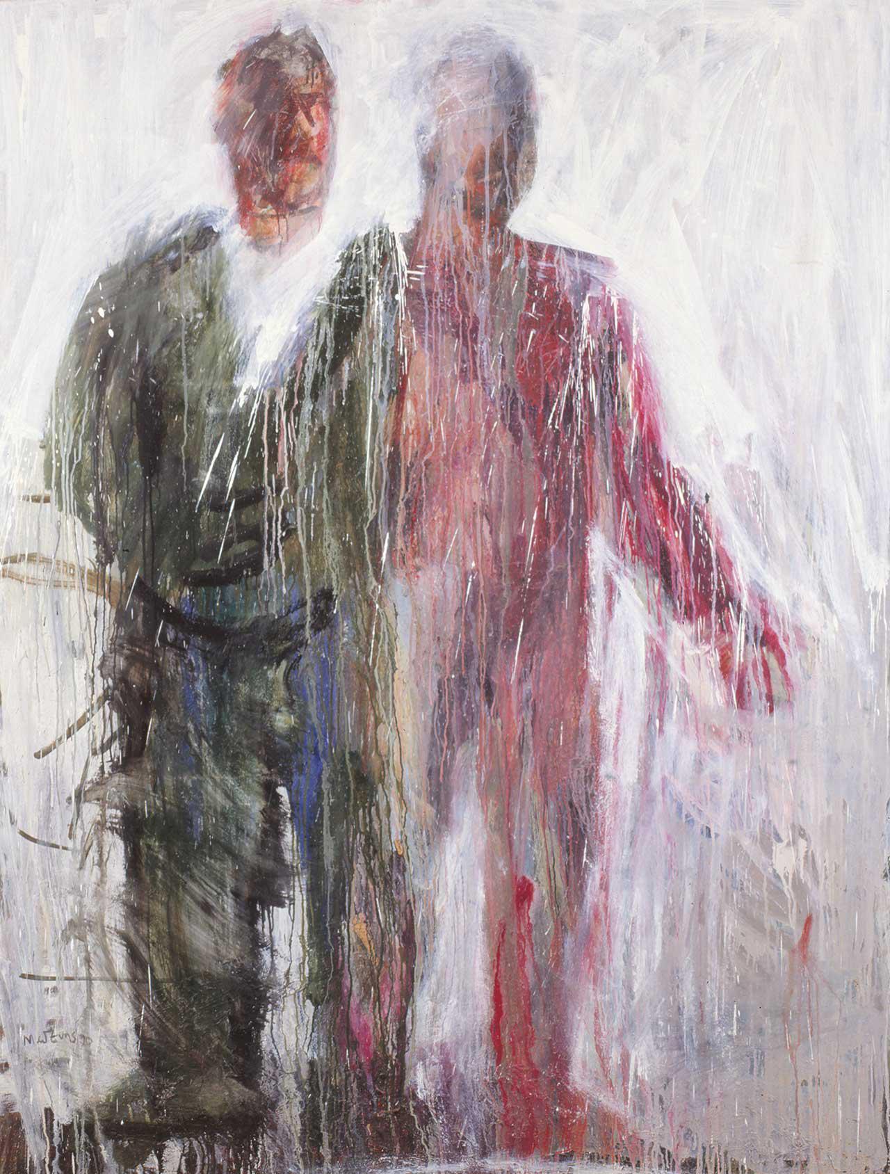 Ο ζωγράφος, 1992, λάδι σε καμβά, 190x144 εκ.