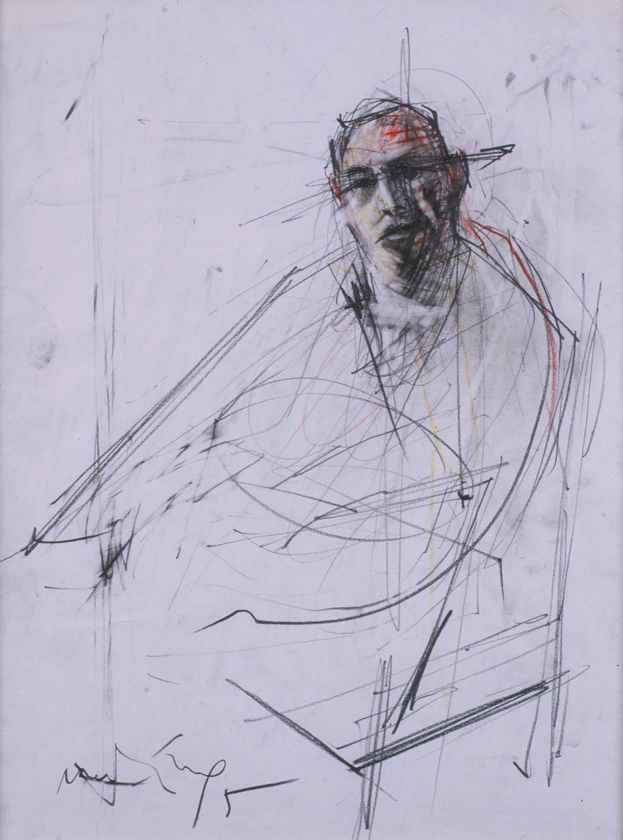 Χρίστος Χ., 1995, σχέδιο, 51x38 εκ.
