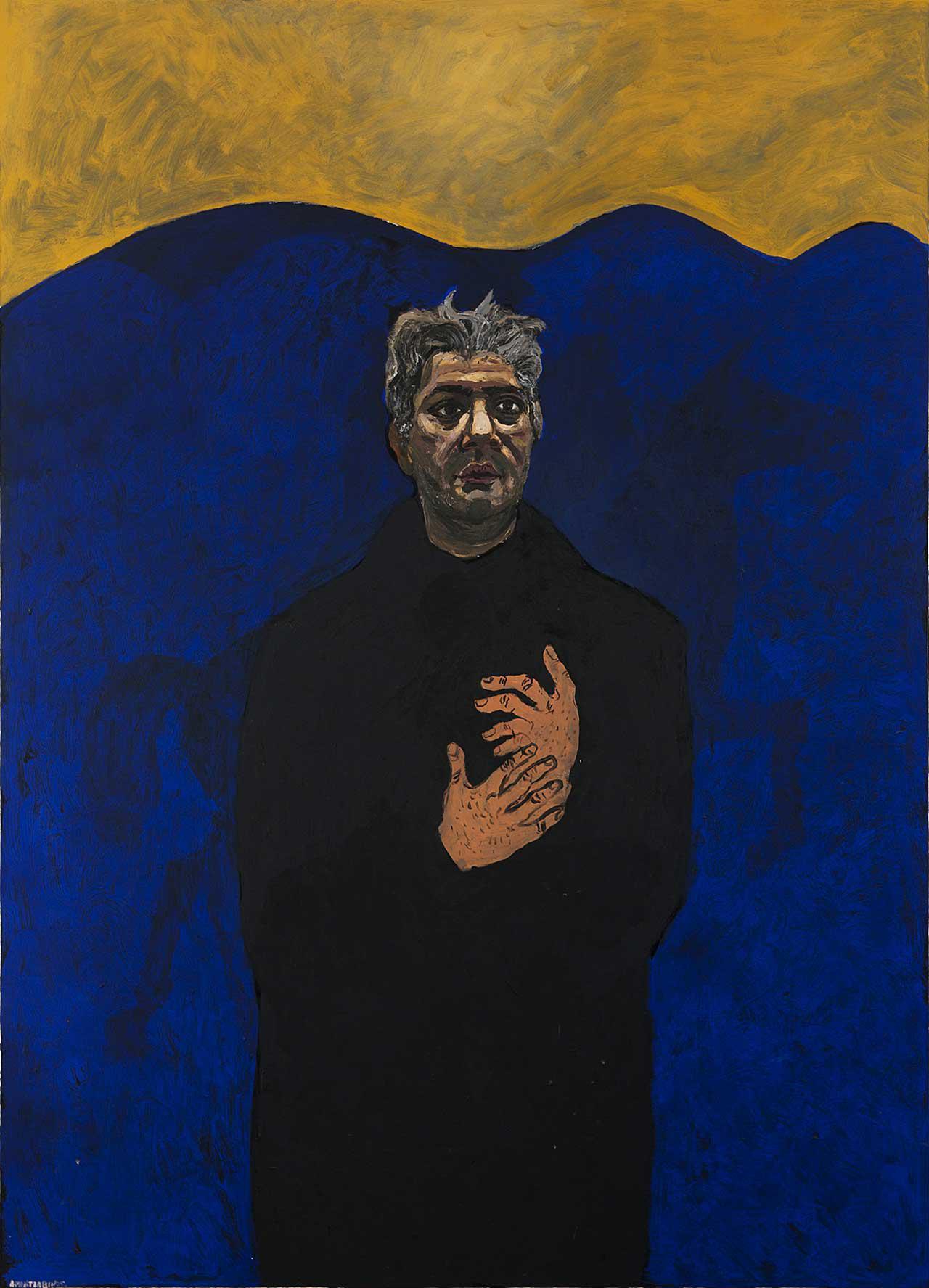 Αυτοπροσωπογραφία (40 χρόνων), 1999, λάδι σε καμβά, 165x120 εκ.
