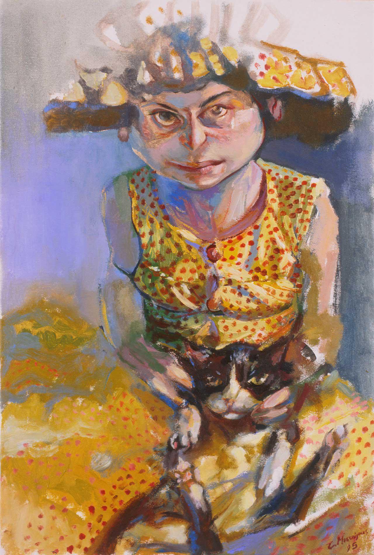 Η Γατού, 1995, λάδι σε καμβά, 61x41 εκ.