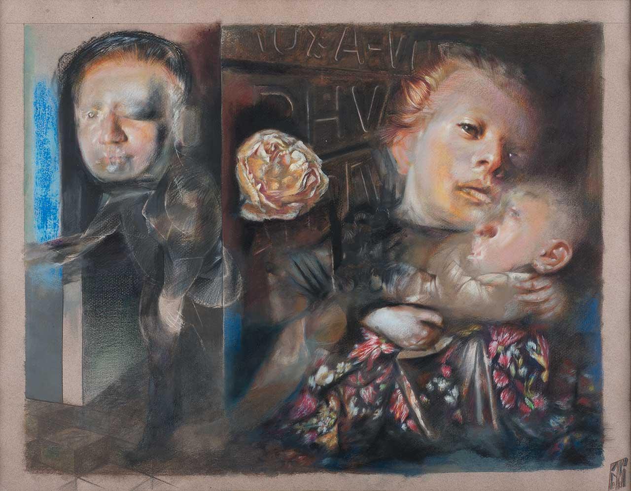 Ευαγγελισμός, 2002, ξυλοχρώματα, 42x45 εκ.
