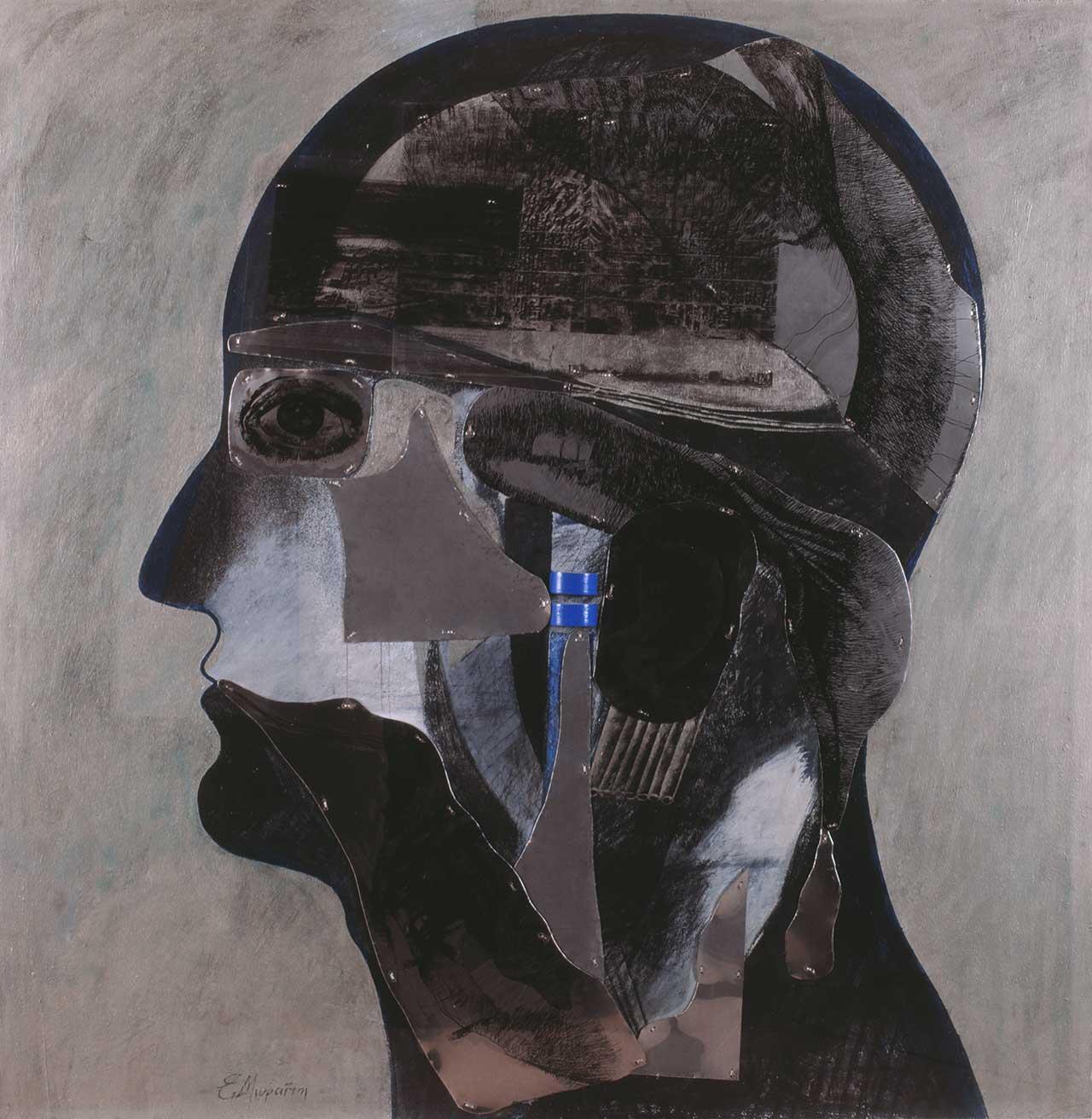 Κεφαλή, 1996, μικτή τεχνική, 124x120 εκ.