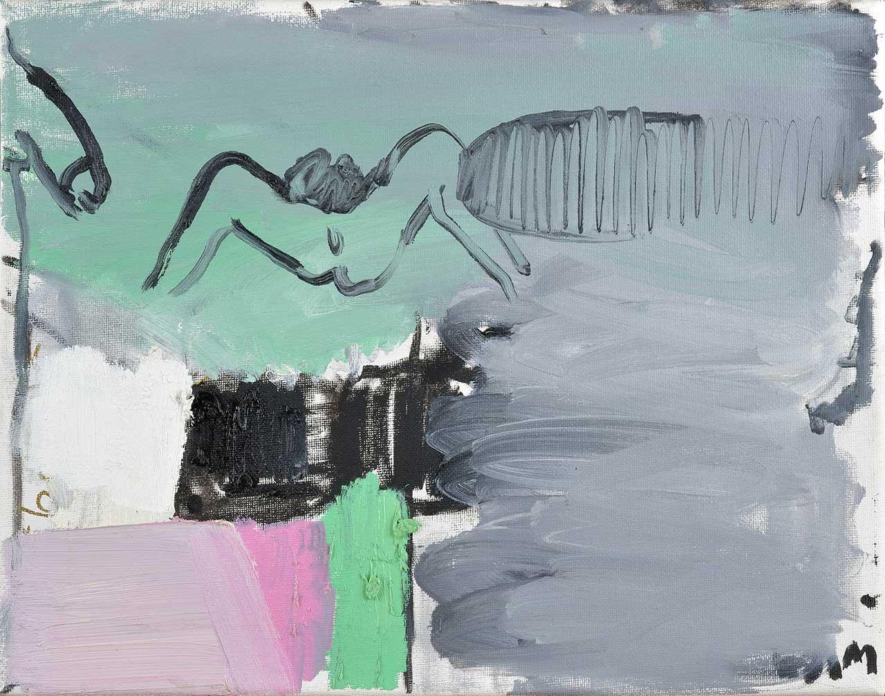 Abstract Sex, 2015, λάδι σε καμβά, 28x35,5 εκ.