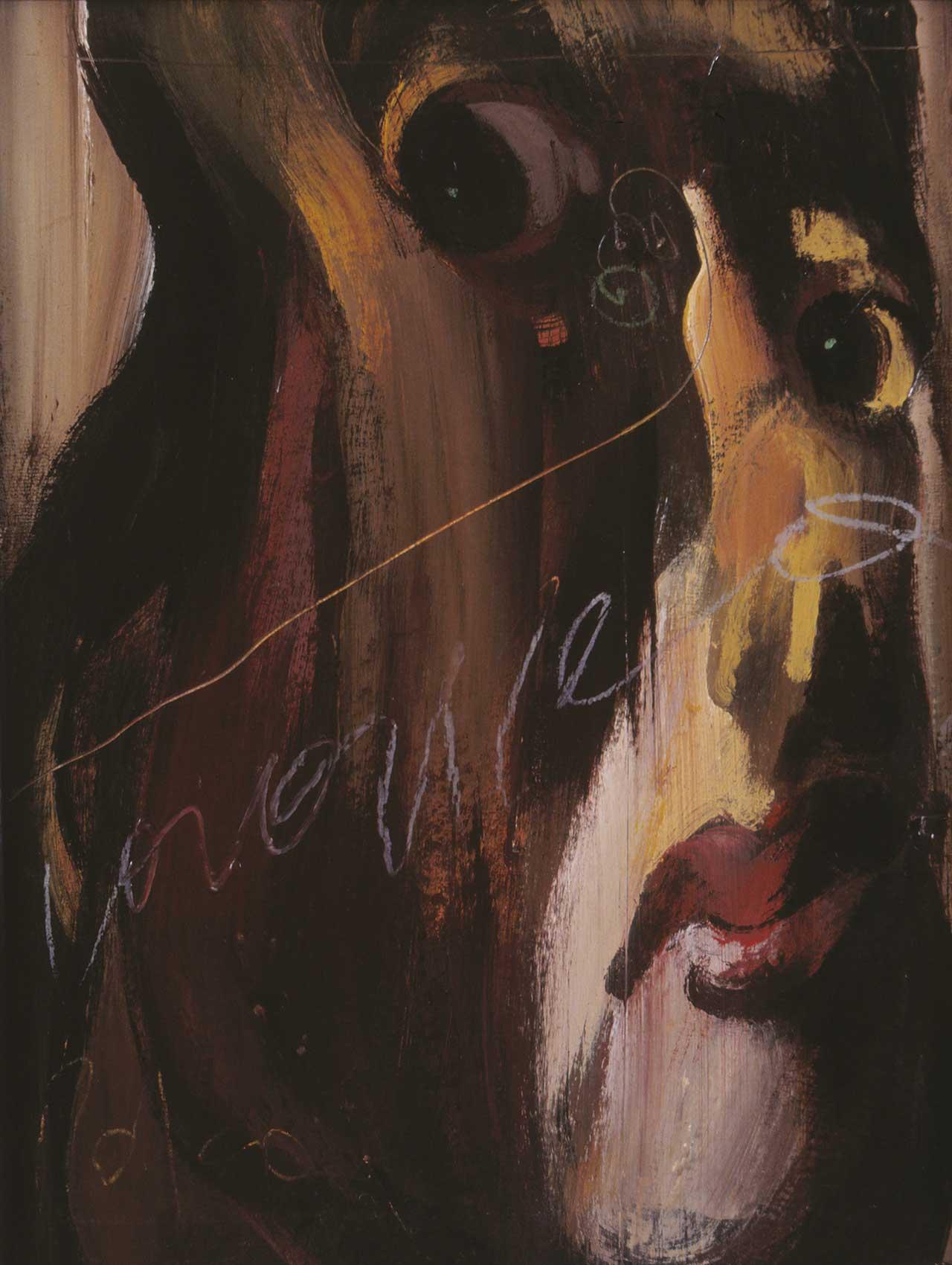 Προσωπογραφία κυρίας, 1981, λάδι σε ξύλο, 40x30 εκ.