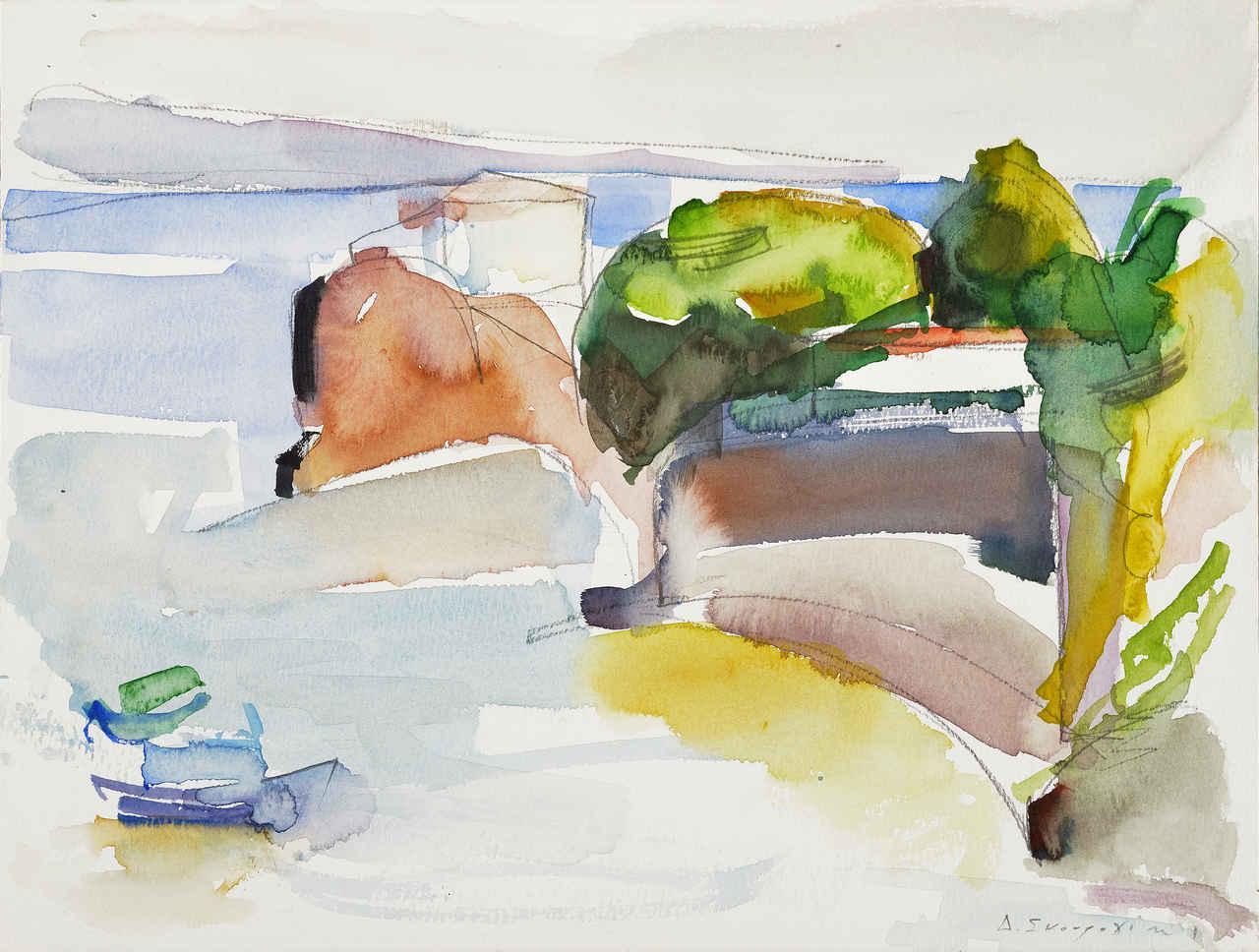 Ύδρα, 1998, ακουαρέλα, 23x30,5 εκ.