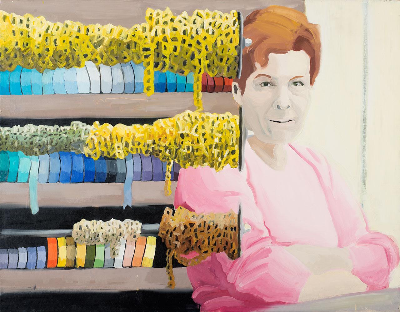 Homesickness (κυρία ροζ), 2006, ακρυλικό σε καμβά, 70x90 εκ.