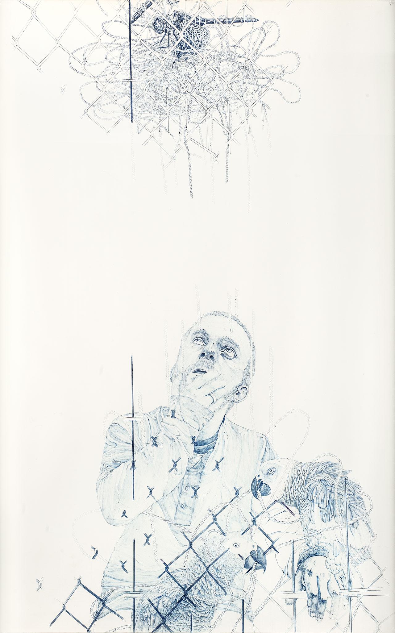 Άτιτλο, 2010, μελάνι σε χαρτί, 120x80 εκ.