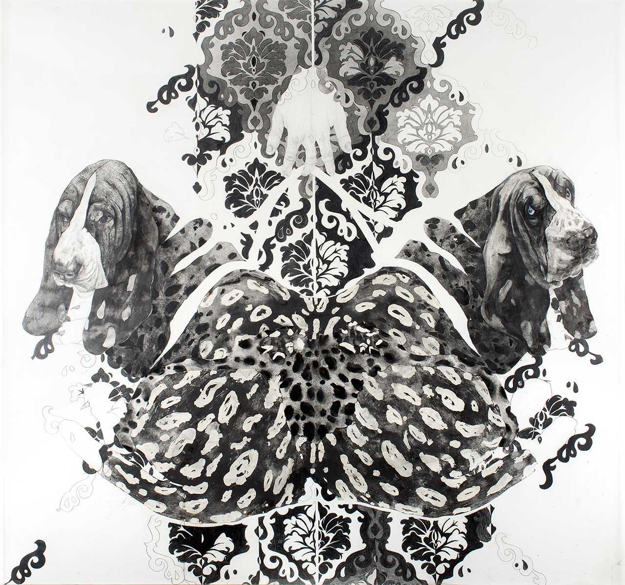 Άτιτλο, 2007, μελάνι σε χαρτί, 152x162 εκ.